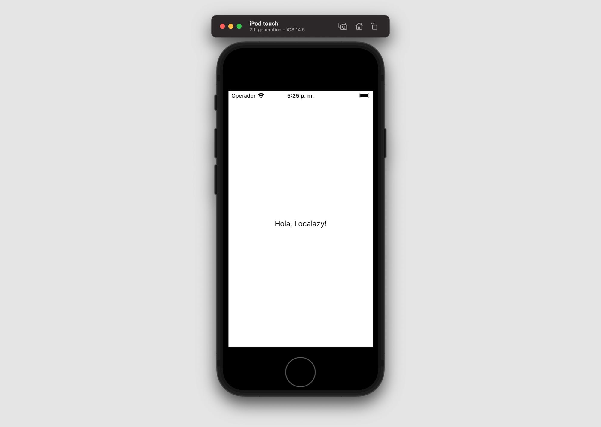 Example app translated into Spanish