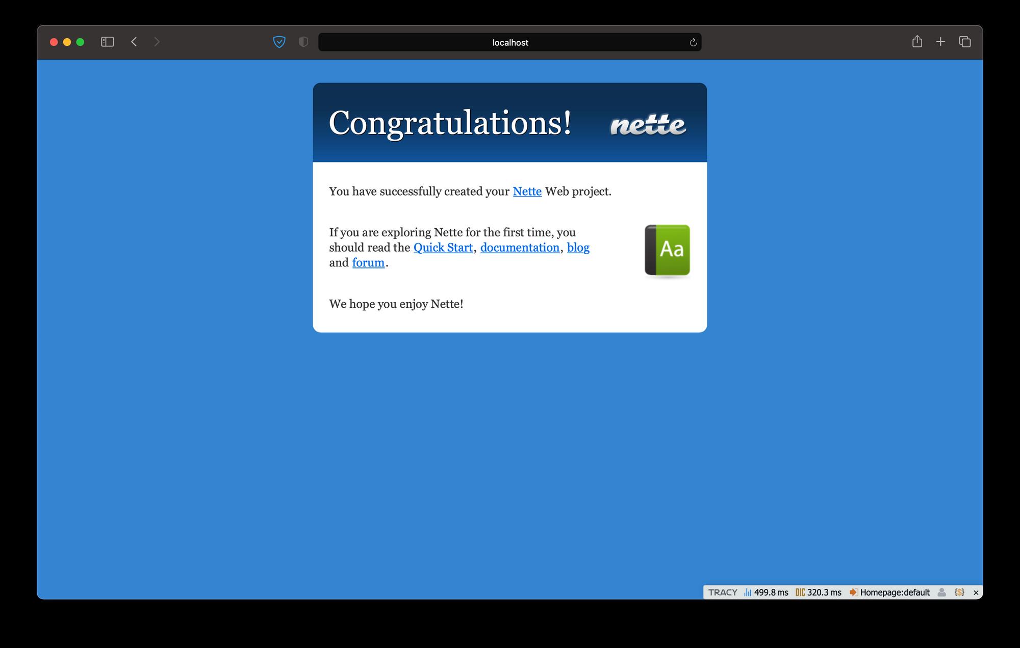 Clean Nette web project